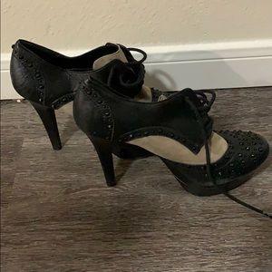 Black and Tan studded heels